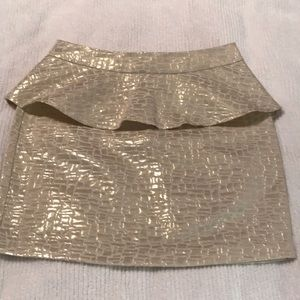 Gold and Beige Holiday Skirt